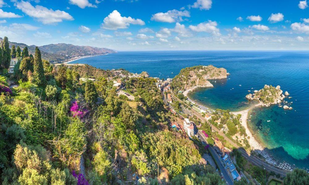 Island Isola Bella in Taormina, Italy