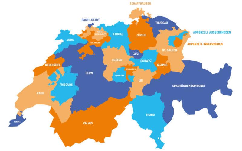 Canton of Switzerland map