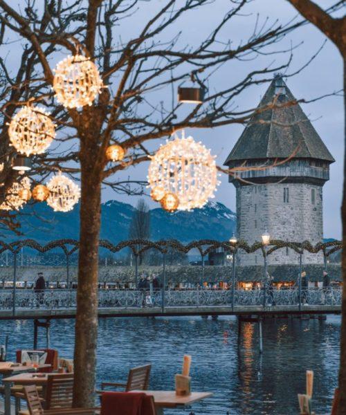 Kapellbrücke und Wasserturm - Luzern im Advent